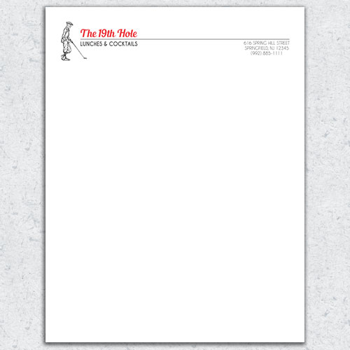 Free Letterhead Template 13 - 2 Color
