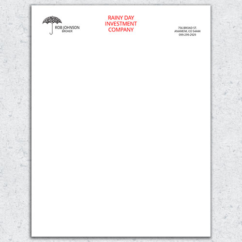 Free Letterhead Template 14 - 2 Color