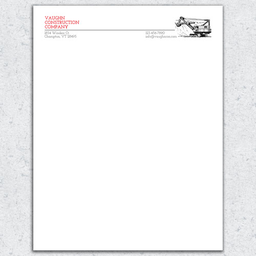 Free Letterhead Template 20 - 2 Color