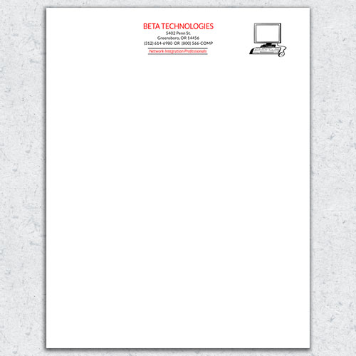 free letterhead template 7. Black Bedroom Furniture Sets. Home Design Ideas