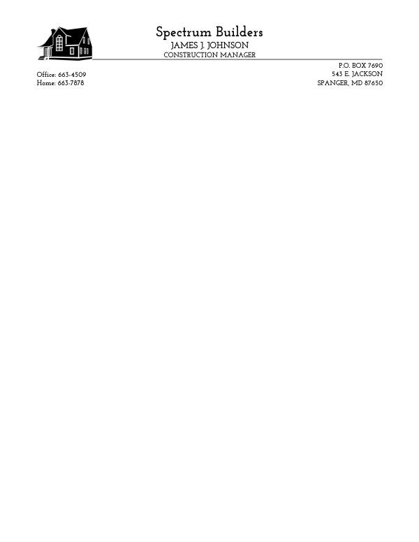 Free letterhead template 10 spiritdancerdesigns Gallery